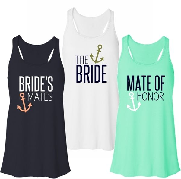 The Bride, Bride's Mate or Mate of Honor Flowy Racerback Tank