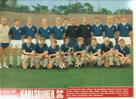 Karlsruher SC of Germany team group in 1965.