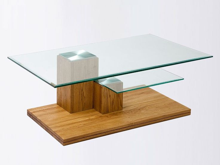 Ława dębowa ze szklanym blatem Dubel 15