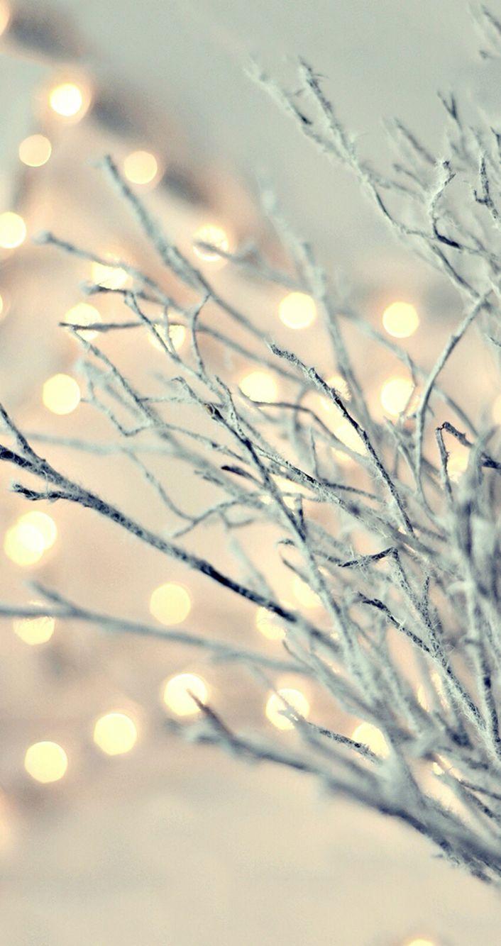 Christmas lights iPhone wallpaper