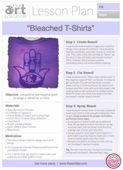 Bleached T-Shirts: Free Lesson Plan Download