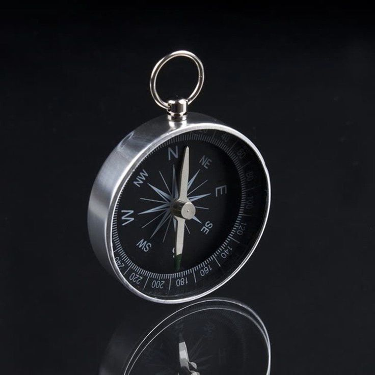 Pocket Compass Keychain Military Scouts Hiking Camping Survival AID Watch Style