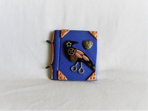 Steampunk raven journal Steampunk raven diary raven diary