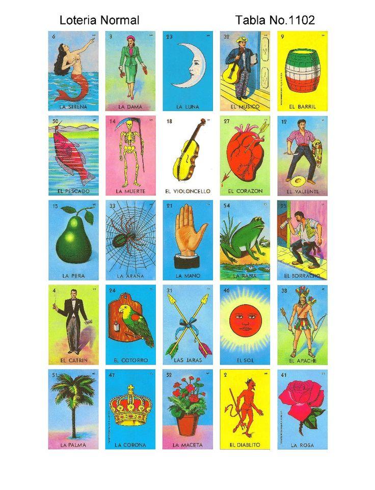 Loteria Mexicana Cartas De 5x5 Totalmente Diferentes - $90 ...