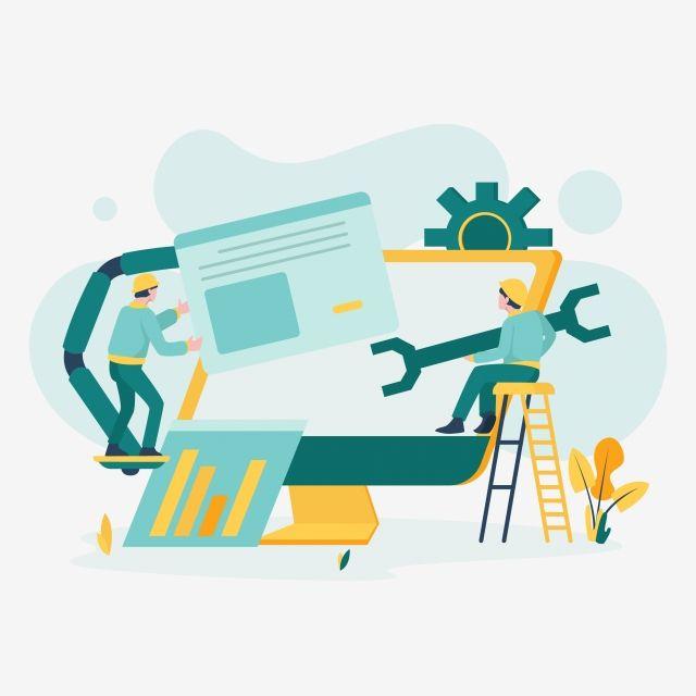 System Maintenance Illustration Concept Modern Flat Design Concept Of Web Page Design For Website And Mobile Website Vector Illustration Internet Clipart Mai Concept Design Page Design Documents Design