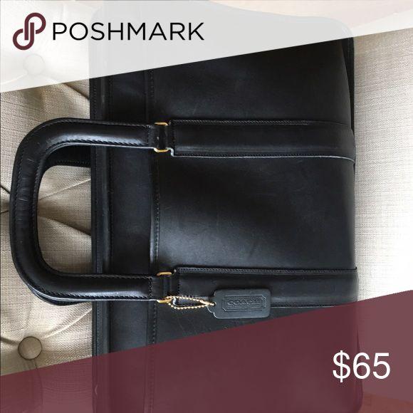 Excellent condition soft leather Coach briefcase:laptop case Coach Bags Laptop Bags