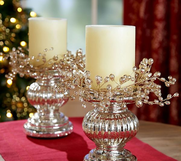 Just glow for it! This set of two floral candle rings by Valerie Parr Hill makes your home sparkle. Page 1 QVC.com
