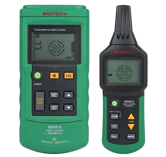 Mastech MS6818 Portable Professional Wire Cable Tracker Metal Pipe Locator Detector Tester Line Tracker Voltage12~400V #Affiliate