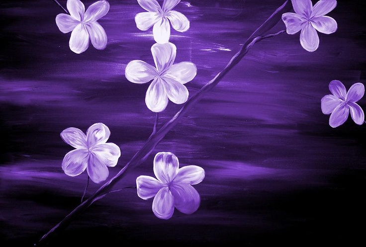 Purple Cherry Blossom Painting by Mark Moore - Purple Cherry Blossom Fine Art Prints and Posters for Sale