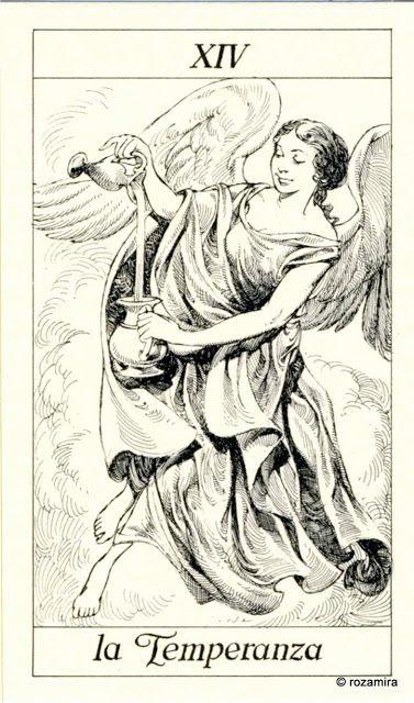 XIV. Temperance - Tarot of the 3 Musketeers ( I Tarocchi del re Sole) by  Paolo Piffarerio