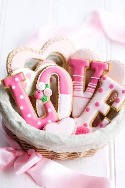 valentine cookie design idea