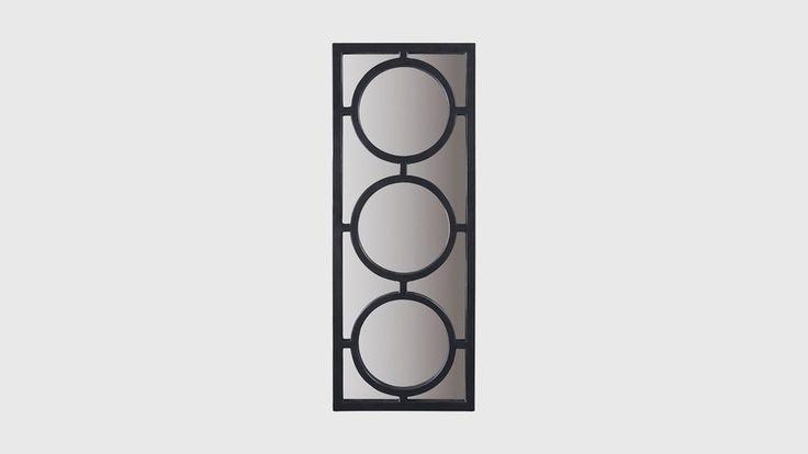 Зеркало Creet, материал: Полиуретан, цвет: Черный