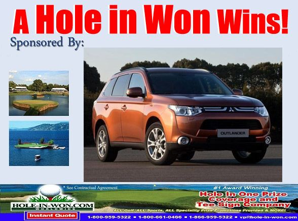 Best Mitsubishi Golf Mitsubishi Hole In One Insurance Images On - Mitsubishi promotions