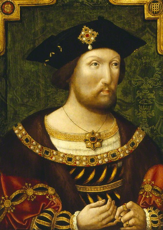 King Henry VIII by Unknown Anglo-Netherlandish artist oil on panel, circa 1520 20 in. x 15 in. (508 mm x 381 mm)