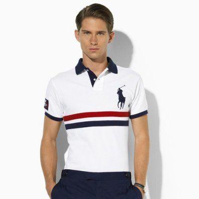 Ralph Lauren 1004 US Open Custom-Fit Polo IN WHITE