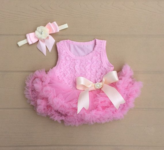 Petti skirt. Baby pettiskirt. Baby tutu dress. by KadeesKloset
