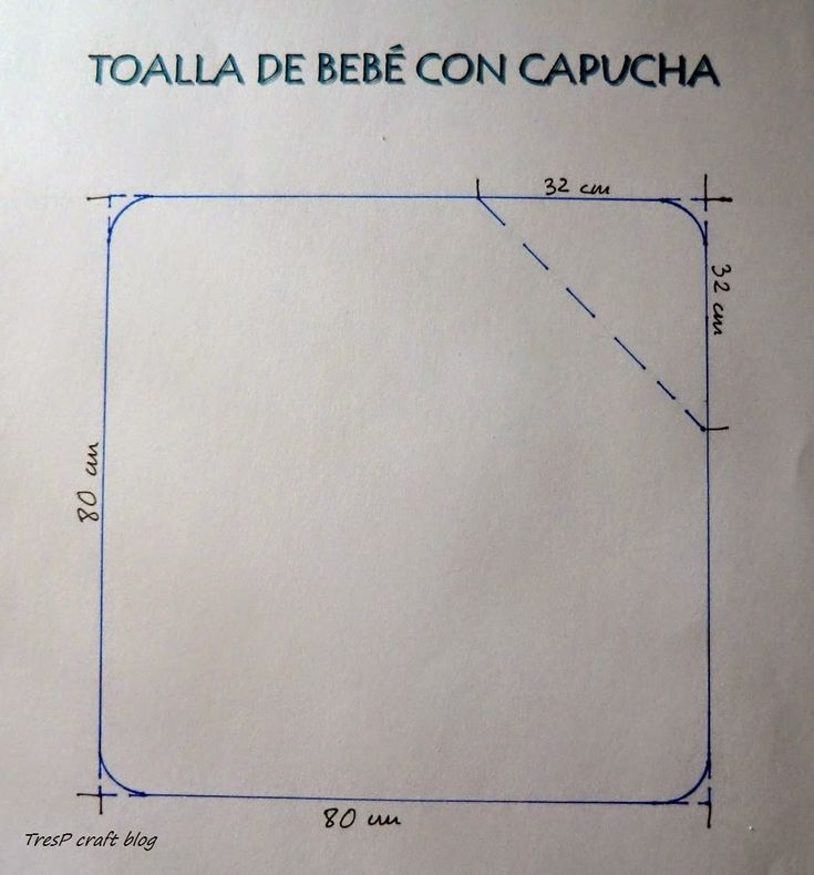 TresP craft blog: PATRÓN Y TUTORIAL DE TOALLA CON CAPUCHA PARA BEBÉ