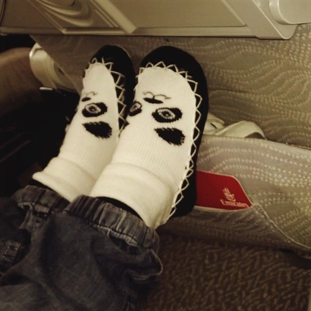 Going somewhere for #Easter? Don't forget to pack your #moccis, the #must-have for all #travel!! #emirates #fly #comfy #cosy #feet #kids #travelfashion #flysocks #holiday #Easterbreak #mockasin