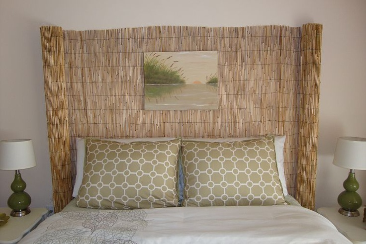 Re-purposed fence into a Head Board... you dont HAVE to use items for their intended purpose!