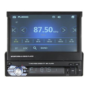 <b>7 Inch Car</b> Stereo Audio MP5 MP4 MP3 DVD Player Bluetooth AUX ...