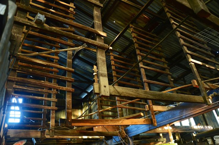 Rafters at the pipe works.  Urban decay