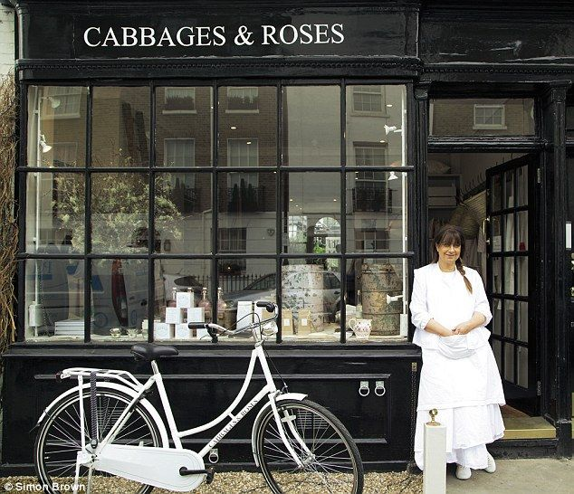 Cabbages & Roses shop on Sydney Street in London. The store is on the ground floor of a double-fronted Georgian building.