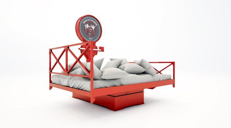 łóżko waga . nietypowe rozwiązanie w sypialni .