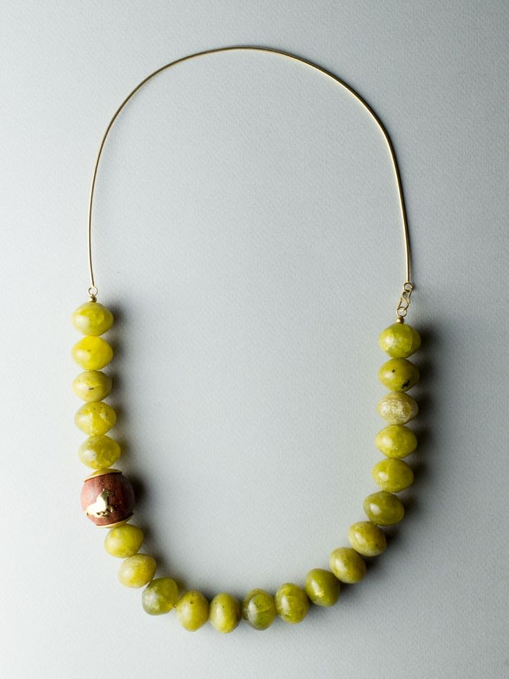 Jade Horse Necklace by Carla Szabo #jewelry #design #necklace