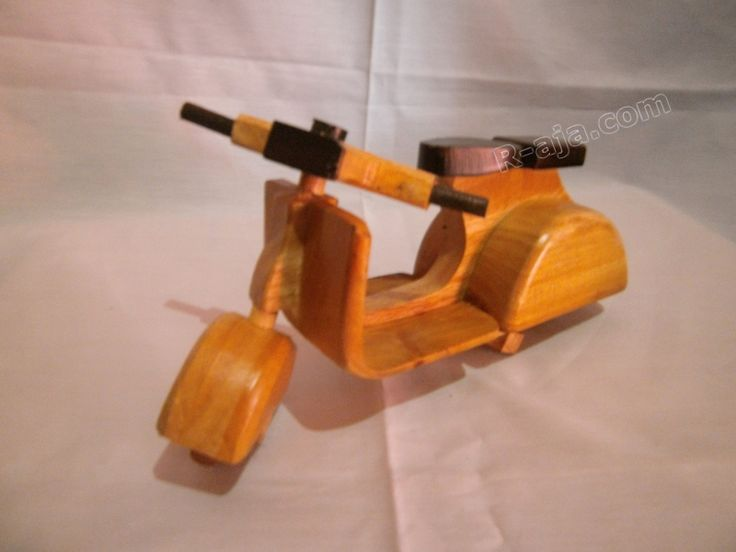 Handicraft Miniature Wooden Vespa Motorcycle made of Wood.