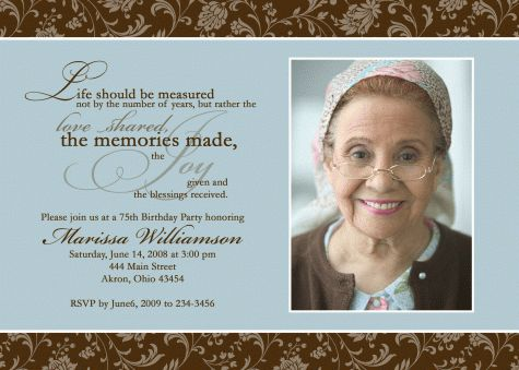 The 25 best ideas about 80th Birthday Invitations – 90th Birthday Invitation Wording Samples