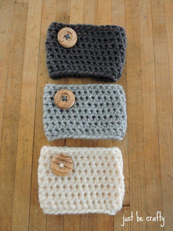 Crochet Coffee Cozy - Free pattern!