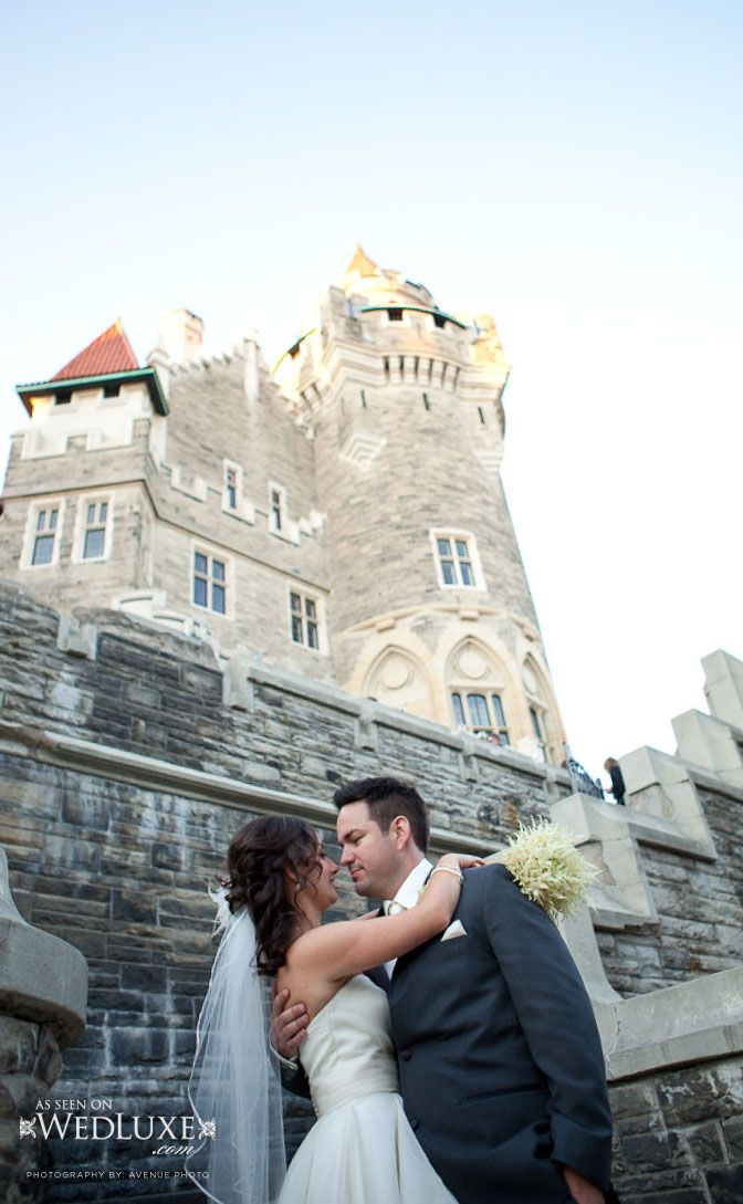 www.valenciene.com every princess needs a prince.... and a wedding ceremony in a castle! Casa Loma, Toronto #luxewedding #bespoke #bridalgowns #victorianwedding