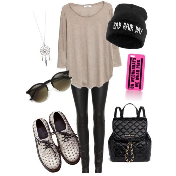 A fashion look from February 2015 featuring MANGO tops, The Row leggings and MICHAEL Michael Kors backpacks. Browse and shop related looks.