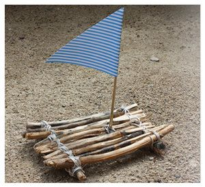 Besonders toll für den #Sommer: Ein #Floß aus Holzstäbchen basteln. Gleich mal ausprobieren: https://www.wummelkiste.de/blog/floss-aus-holzstockchen/