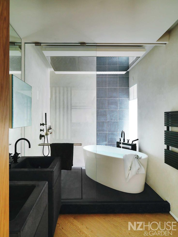 pictures to hang in master bathroom%0A Master bathroom featuring bespoke granite basins by Sing Fai Marble  u      Dornbracht u    s Tara taps  Home Journal  January