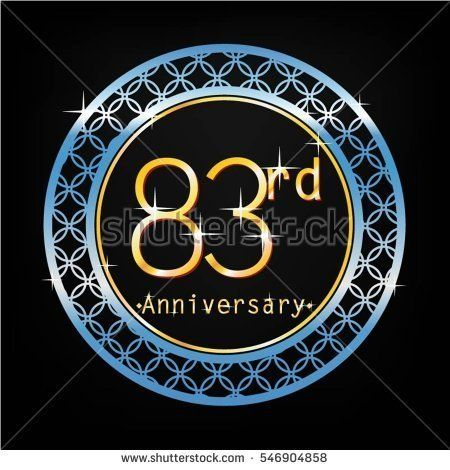 black background and blue circle 83rd anniversary for business and various event