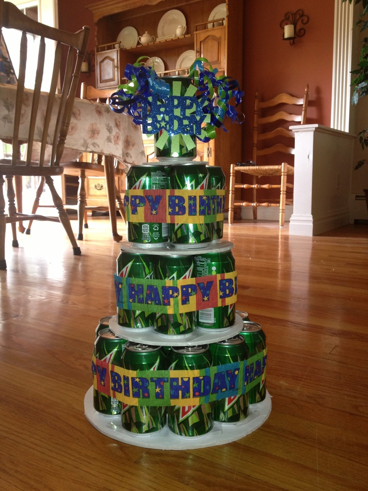 Mountain Dew Birthday Cake My Creations Pinterest