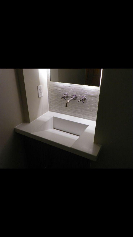 modern powder room by ConcretePete LLC 44