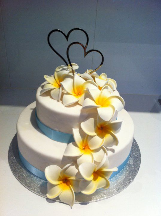 frangipani wedding cake - Google Search