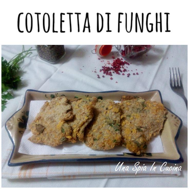 Cotoletta di funghi pleurotus al forno