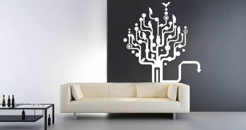 Zee Treelogy: This modern wall graphic is a perfect mix of nature and geometric strokes.   Visit this link for more designs: https://limelight-vinyl.myshopify.com/