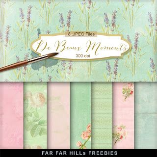 New Freebies Kit of Backgrounds - De Beaux Moments:Far Far Hill - Free database of digital illustrations and papers