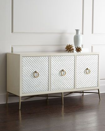 Blanca+Capiz-Painted+Console+by+Bernhardt+at+Horchow.