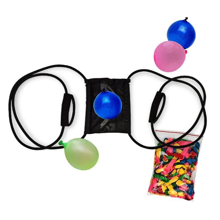 3 Person Water Balloon Launcher Slingshot For Fun Free Balloons Included. Target Practice has never been so much fun. Enjoy the summer launching small fist-size water balloons at targets. Made of Natural Latex, super elastic for water balloon launching. Includes packages of water balloon launchers. Each package contains a launcher and balloons. Three person launcher. Build up arm muscles while playing, ideal for playing with friends and families.