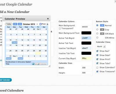 Customize the look of your google calendar