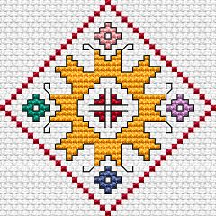 Summer Motif free cross stitch pattern