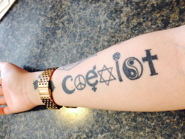 My coexist tattoo  #coexist #tattoo