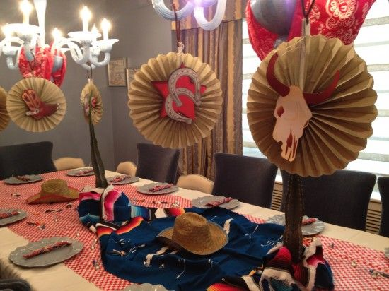A Cowboy Inspired Purim Table