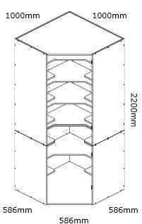 kaboodle flat pack kitchen 1000mm corner pantry cabinet installation instructions