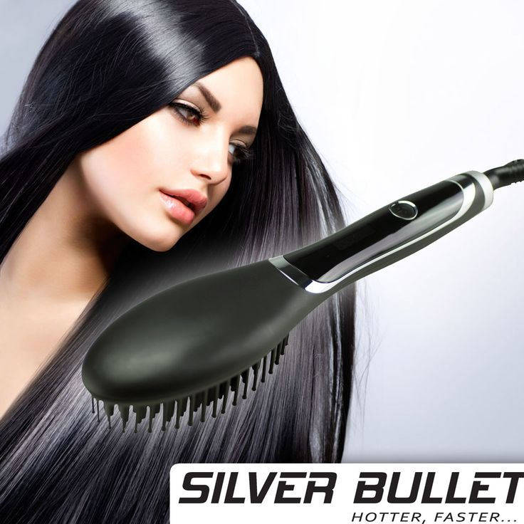 Just Released! The Professional Silver Bullet Hybrid Straightening Brush ONLY $98.50 Why waste countless hours straightening hair?  Now you can SIMPLY BRUSH IT and get it straight in MINUTES. The Only Straightening Brush with Ionic Technology  This blows the competition away! Get yours now ->